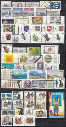 Kompletní roèník Nìmecko 1993 Mi# 1645-1708 Kat 133.80€