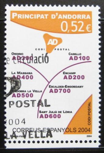 Poštovní známka Andorra Šp. 2004 Poštovní kódy Mi# 316