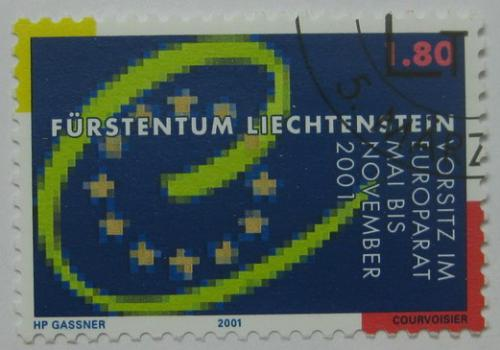 Poštovní známka Lichtenštejnsko 2001 Rada Evropy Mi# 1256 Kat 4.80€