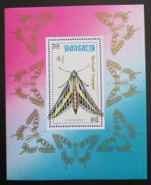 Poštovní známka Mongolsko 1990 Celerio lineata Mi# Block 156