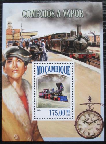 Poštovní známka Mosambik 2013 Parní lokomotivy Mi# Block 816 Kat 10€