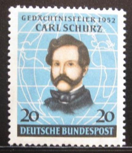 Poštovní známka Nìmecko 1952 Carl Schurz Mi# 155 20€