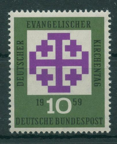 Poštovní známka Nìmecko 1959 Sjezd protestantù Mi# 314