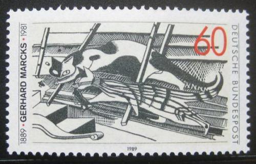 Poštovní známka Nìmecko 1989 Koèka na pùdì, Gerhard Marcks Mi# 1410