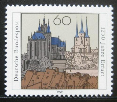 Poštovní známka Nìmecko 1992 Erfurt, 1250. výroèí Mi# 1611