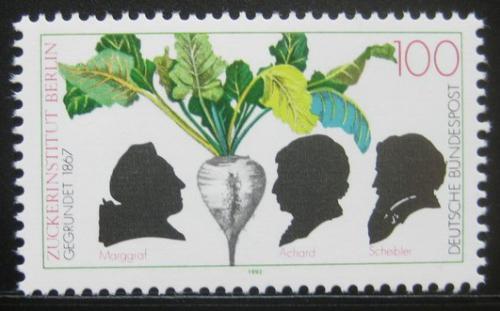 Poštovní známka Nìmecko 1992 Založení institutu cukru, 125. výroèí Mi# 1599
