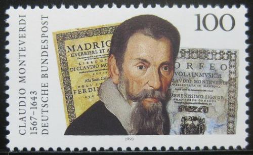 Poštovní známka Nìmecko 1993 Claudio Monteverdi, skladatel Mi# 1705