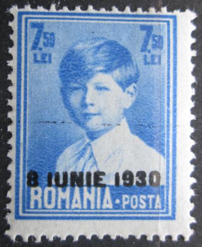 Poštovní známka Rumunsko 1930 Král Michael I. pøetisk Mi# 369 Kat 7€