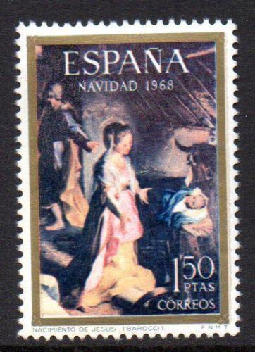 Poštovní známka Španìlsko 1968 Vánoce, umìní Mi# 1791