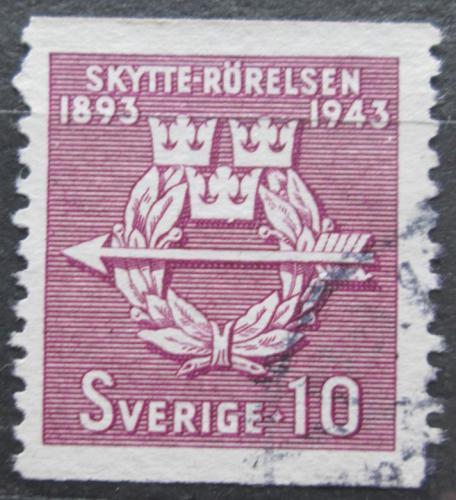 Poštovní známka Švédsko 1943 Švédské èlunkové sdružení, 50. výroèí Mi# 300 A