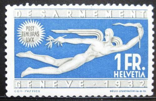 Poštovní známka Švýcarsko 1932 Odzbrojení Mi# 255 Kat 55€