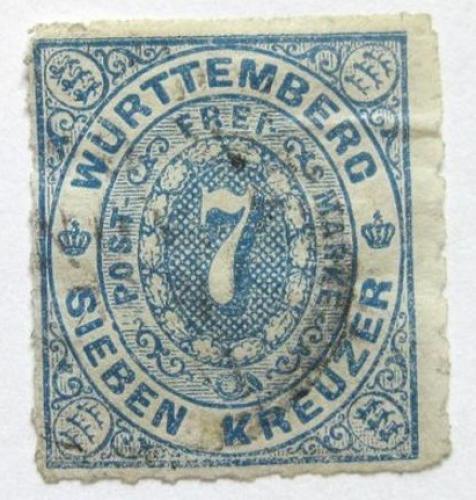 Poštovní známka Württembersko 1869 Nominální hodnota Mi# 39 Kat 22€