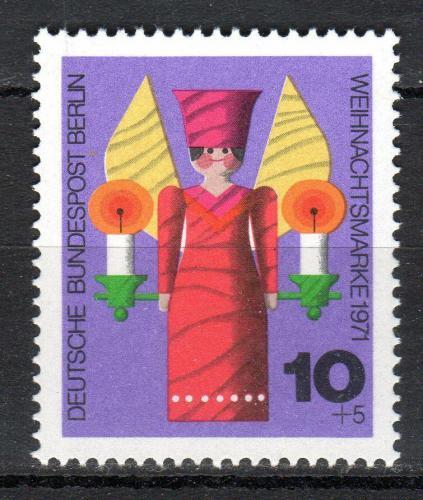 Poštovní známka Západní Berlín 1971 Vánoèní andìl Mi# 417