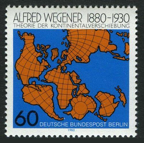 Poštovní známka Západní Berlín 1980 Kontinentální drift Mi# 616