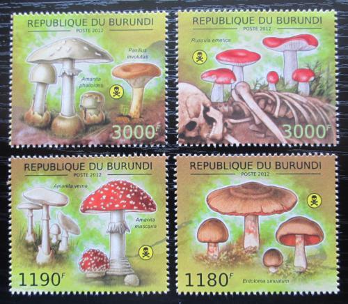 Poštovní známky Burundi 2012 Jedovaté houby Mi# 2743-46 Kat 10€