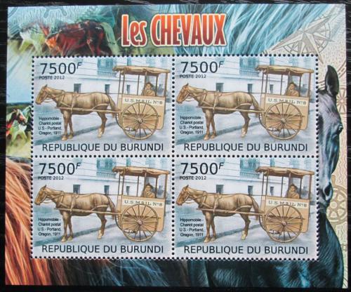 Poštovní známky Burundi 2012 Poštovní dostavník Mi# 2405 Bogen