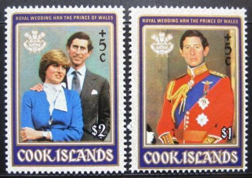 Poštovní známky Cookovy ostrovy 1981 Královská svatba Mi# 796-97