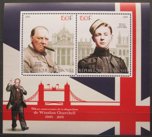 Poštovní známky Džibutsko 2015 Winston Churchill Mi# N/N