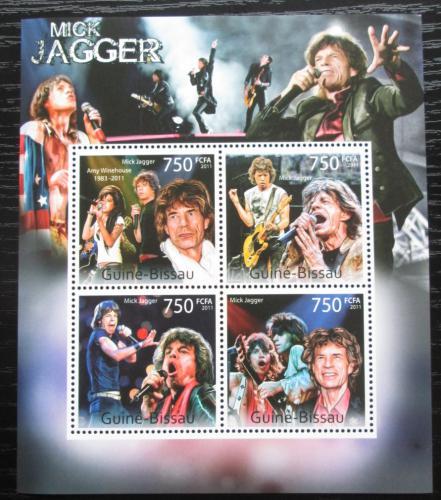 Poštovní známky Guinea-Bissau 2011 Mick Jagger,Rolling Stones Mi# 5641-44 Kat 12€