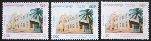 Poštovní známky Kambodža 1995 Pošta v Phnom Penh Mi# 1549-51 Kat 30€