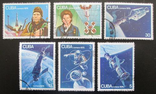 Poštovní známky Kuba 1976 Prùzkum vesmíru Mi# 2125-30