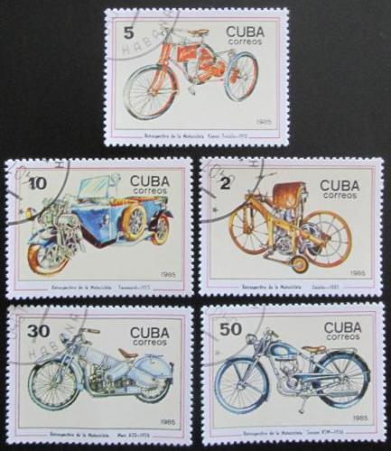 Poštovní známky Kuba 1985 Motocykly Mi# 2954-58
