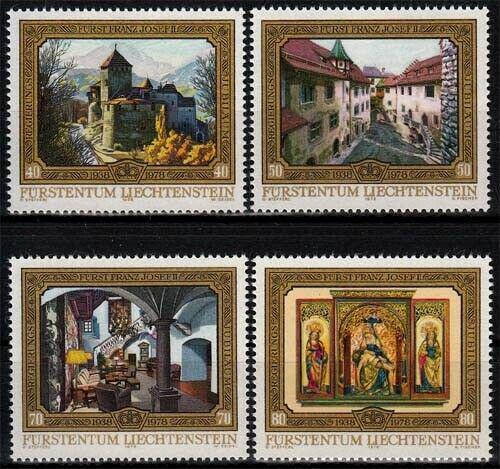 Poštovní známky Lichtenštejnsko 1978 Hrad Vaduz Mi# 706-09 Kat 6.50€