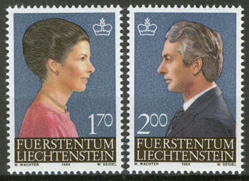 Poštovní známky Lichtenštejnsko 1984 Královský pár Mi# 864-65 Kat 6.50€