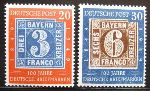 Poštovní známky Nìmecko 1949 Sto let známek Mi# 114-15 Kat 90€