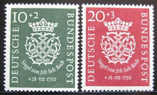 Poštovní známky Nìmecko 1950 J. S. Bach Mi# 121-22 Kat 130€