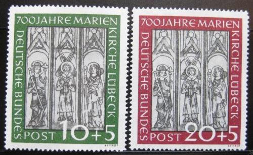 Poštovní známky Nìmecko 1951 Marienkirche Mi# 139-40 Kat 200€