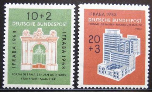 Poštovní známky Nìmecko 1953 Mezinárodní výstava Mi# 171-72 Kat 50€