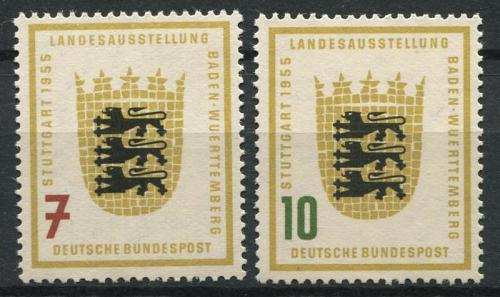 Poštovní známky Nìmecko 1955 Baden-Wurttemberg Mi# 212-13 Kat 12€
