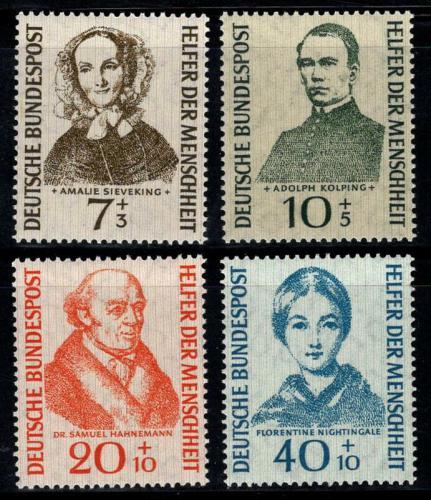 Poštovní známky Nìmecko 1955 Osobnosti Mi# 222-25 Kat 40€