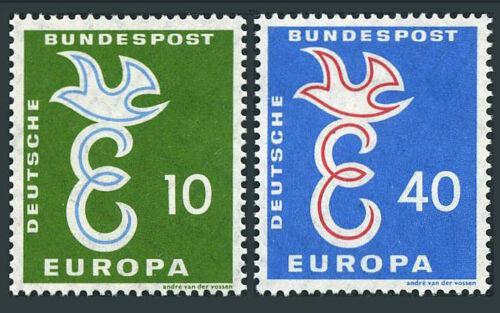 Poštovní známky Nìmecko 1958 Evropa CEPT Mi# 295-96 Kat 4.50€