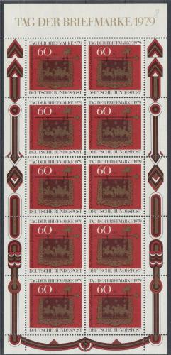 Poštovní známky Nìmecko 1979 Den známek Mi# 1023 Bogen Kat 14€