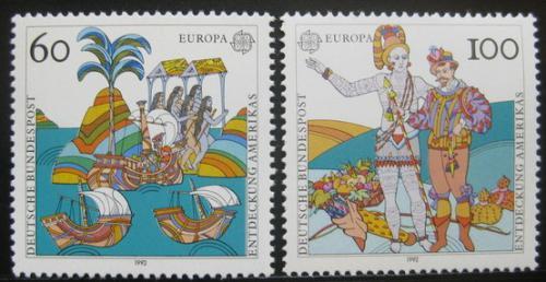 Poštovní známky Nìmecko 1992 Evropa CEPT, objevení Ameriky Mi# 1608-09