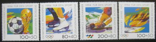 Poštovní známky Nìmecko 1994 Sporty Mi# 1717-20 Kat 15€