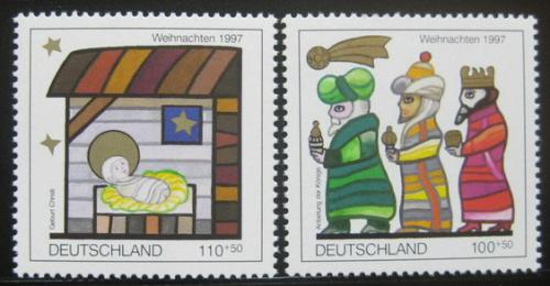 Poštovní známky Nìmecko 1997 Vánoce Mi# 1959-60