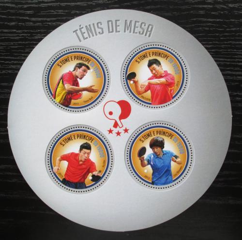 Poštovní známky Svatý Tomáš 2013 Stolní tenis Mi# 5366-69 Kat 8€