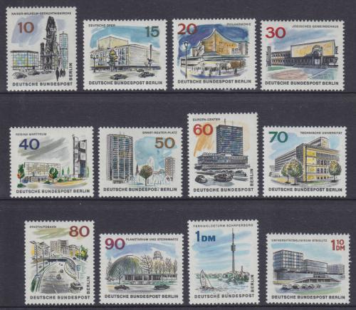 Poštovní známky Západní Berlín 1965-66 Nový Berlín Mi# 254-65
