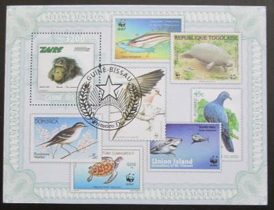 Poštovní známky Guinea-Bissau 2010 Fauna, WWF Mi# Block 807 Kat 13€
