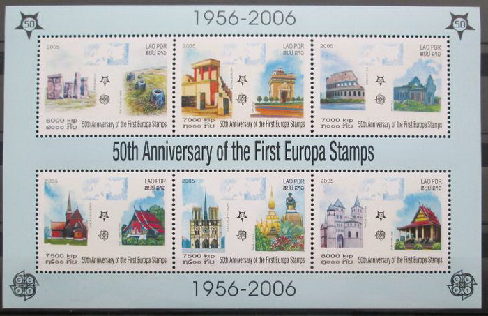 Poštovní známky Laos 2005 Evropa CEPT Mi# Block 194 A