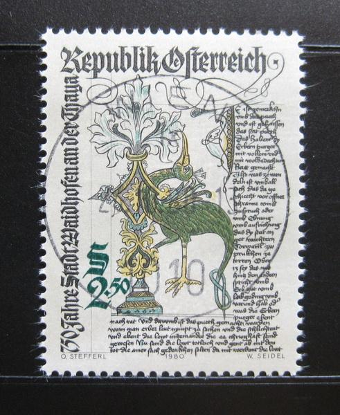 Poštovní známka Rakousko 1980 Waidhofen an der Thaya, 750. výroèí Mi# 1658