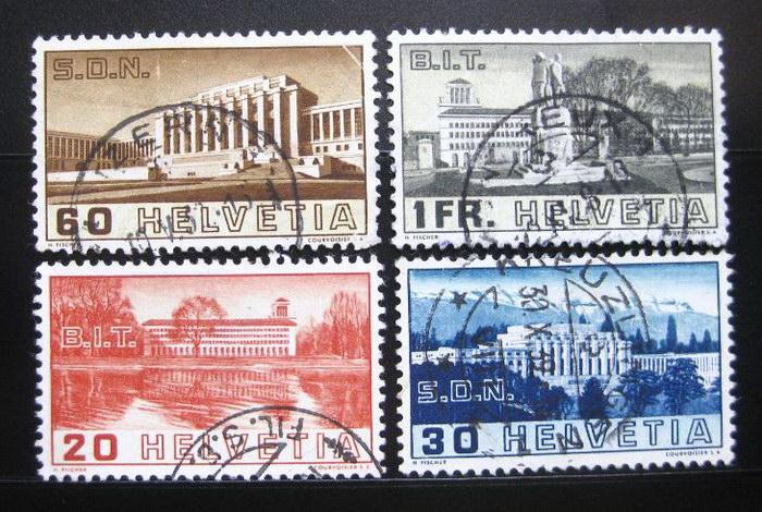 Poštovní známky Švýcarsko 1938 Liga národù Mi# 321-24 Kat 25€